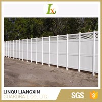 ISO TS 16949 Approved Outdoor Good Weatherability White Privacy Garden Fences