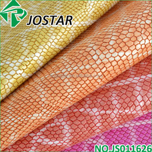Snake Printed New Design PU Leather For Shoes