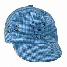 Blue sports hats for children
