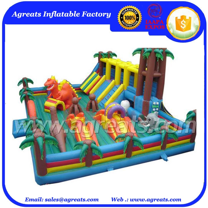 inflatable fun city air bouncer inflatable trampoline commercial inflatable combo jumpers slide for many kids play G3120
