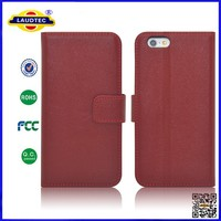 For Apple iPhone 6 Genuine Layer Slim Wallet Leather Case, Flip Case for Apple Phone 6