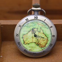 dropshipping agent watches Australia map pocket watches with chain