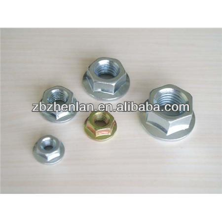 China wholesale aluminum hex flange weld nuts