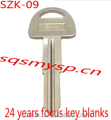 F181 Iron steel SZ-9 Locksmith auto keys blank wholesale