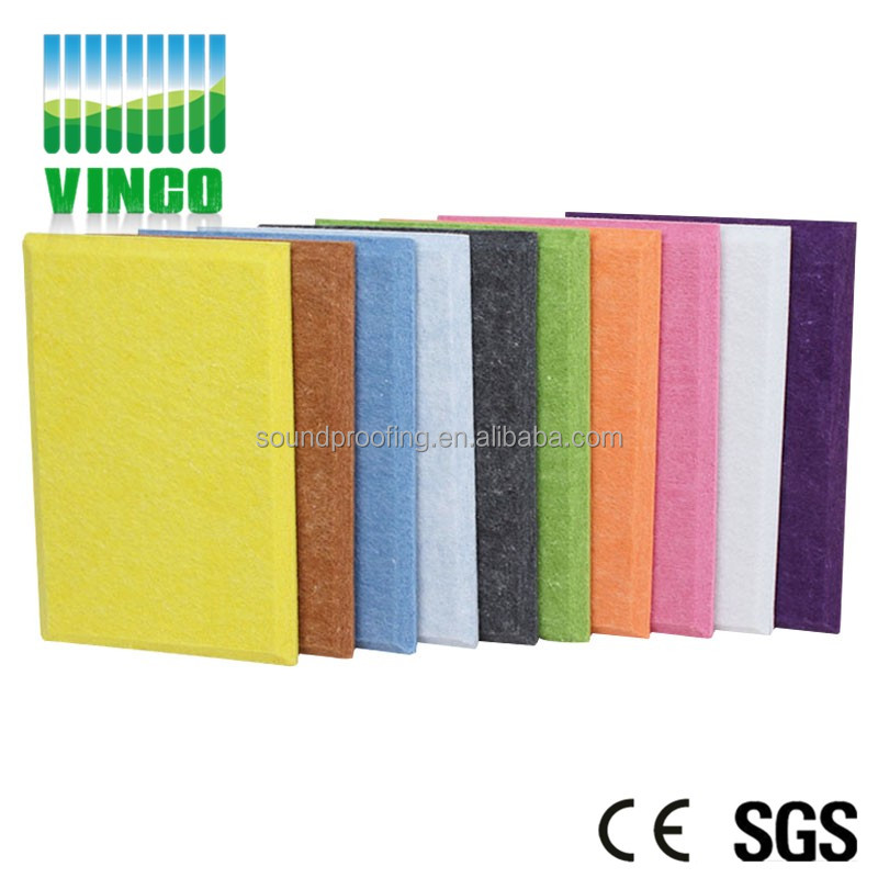 Thermal insulation Acoustic Panels solo panel type and clothing acoustic panels acoustic polyester fiber board