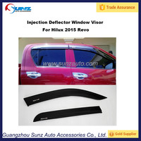 For Toyota 2015 Hilux Revo 2016 New PC Injection sun visor window visors deflectors 2.2 mm Sunz Auto Accessories
