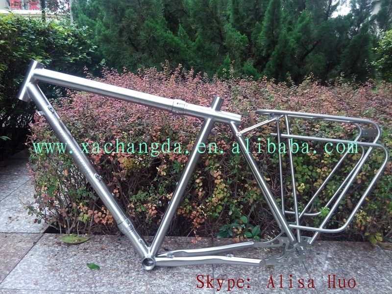 titanium touring bike frame with coupler titanium touring bike frame with coupler titanium racks