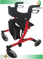 Aluminuim rollator foldable seat active rollator walker for exercise