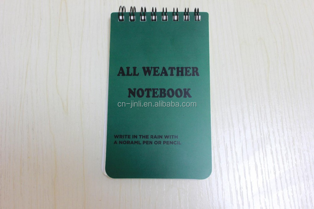 all weather waterproof notebook/notepads