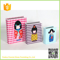 decorative cardboard fancy doll a4 paper storage boxes