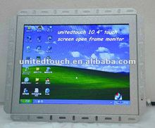 "12.1"" LCD open frame monitor with 3M surface capacitive touch screen for industrial use"