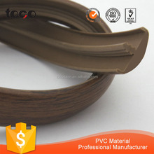 pvc extrusion profile mould/pvc t profile strip/plastic cabinet edge trim