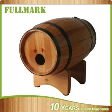 customer-made wood garden barrel