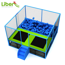 Liben Factory Price Wholesale Square Small Jump Trampoline with Foam Pit
