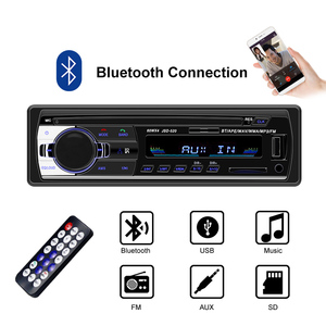 Car Radio 24V Bluetooth V2.0 Car Stereo In-dash 1 Din FM Aux Input Receiver SD USB MP3 MMC WMA 12 pin Connector JSD-520