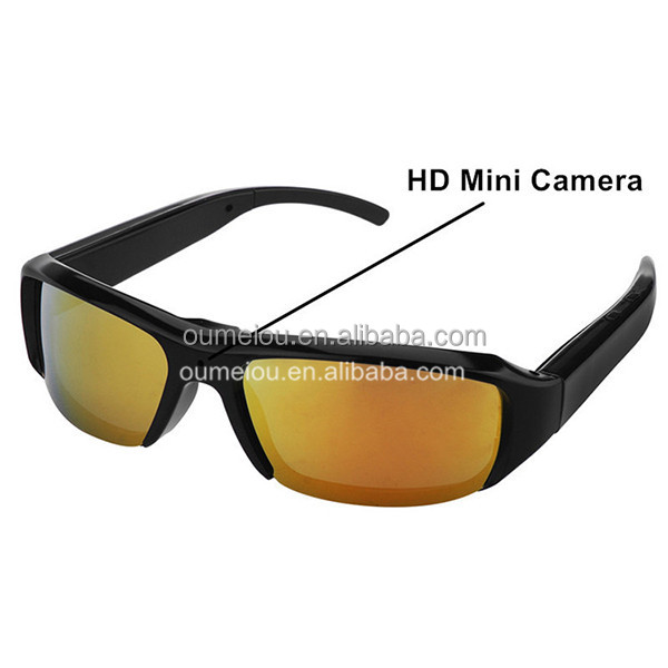 Megapixel HD video Small surveillance glasses hidden security cameras with audio