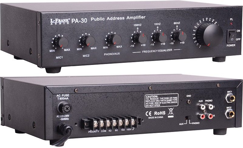 Show amplifier,CE ROHS PA-30 30W Public Address Amplifier,Audio Amplifier,30W/60W