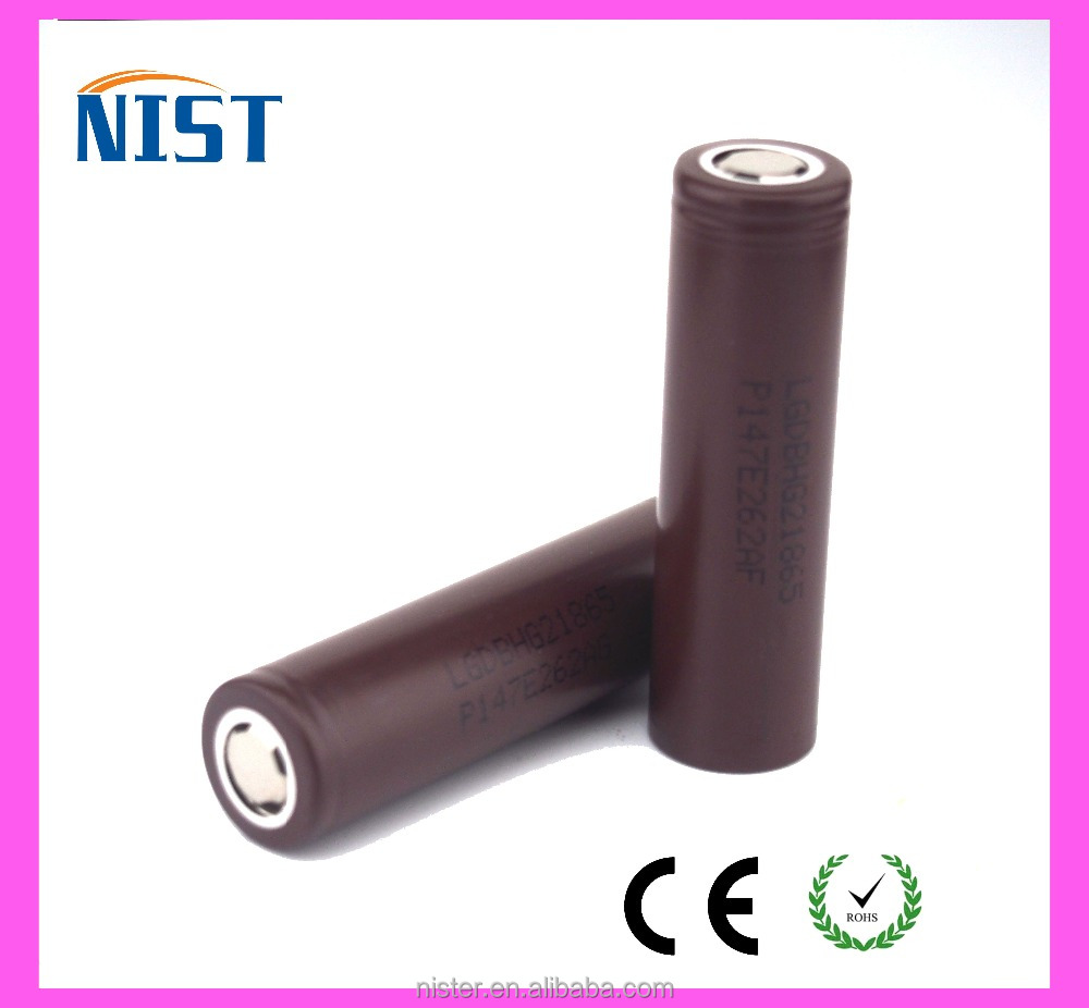 Authentic lg hg2 18650 battery 3.7v 3000mah li ion battery rechargeable battery for e-cig
