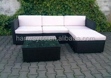Stock lots outdoor furniture KD steel rattan sofa sets overstock inventory closeout