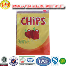 Plastic snack packaging/plastic flat chips bags/automatic flat plastic chips bags