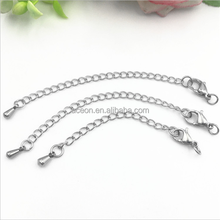 Yiwu Aceon Stainless Steel Jump Ring Lobster Clasp Water Drop Extension for Necklace