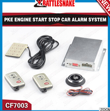 Hands free Arm PKE Entry Alarm System Push Start Stop Function Car Alarm with Remote Start