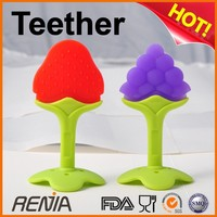 RENJIA teething dummy natural rubber teether silicone natural teething rings