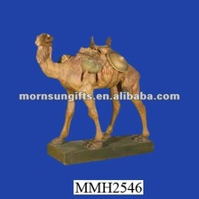 Personalized resin nativity camel statue