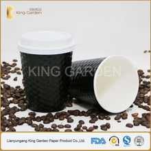 12oz ripple wall paper cup distributor with paper cup lids