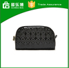 YiWu Classic black PU large capacity makeup cosmestic bags lady fashion travel makeup bag factory supplier