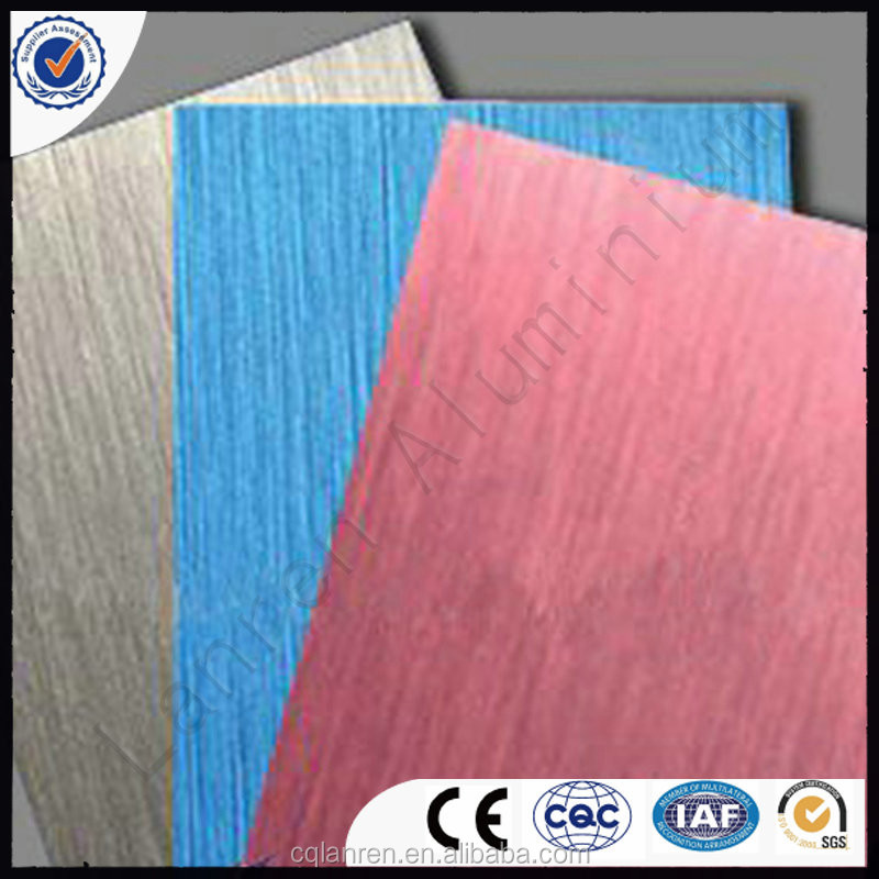 wood laminate / aluminum composite facing board