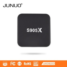 JUNUO stb manufacture OEM android 6.0 google play store app free download amlogic s905x andorid tv box