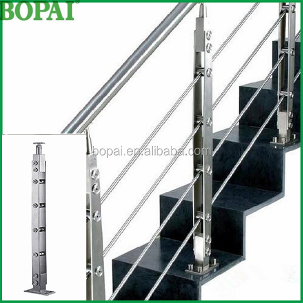 Stainless Steel Cable Railing System Wire Rope Cable/ make stairs handrail