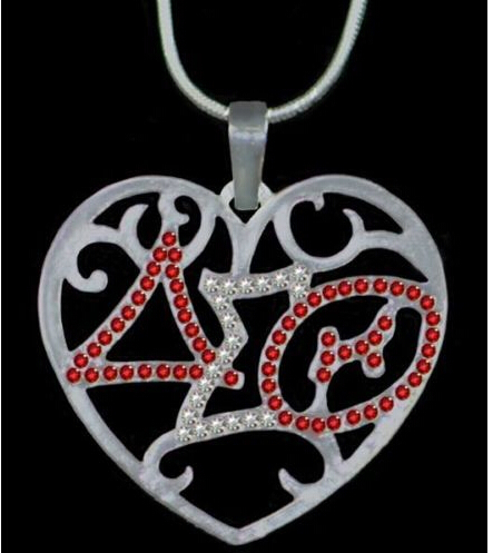 wholesale Delta Sigma Theta sliver gold tone Jewelry Charms Greece Letters Jewelry Tag necklace