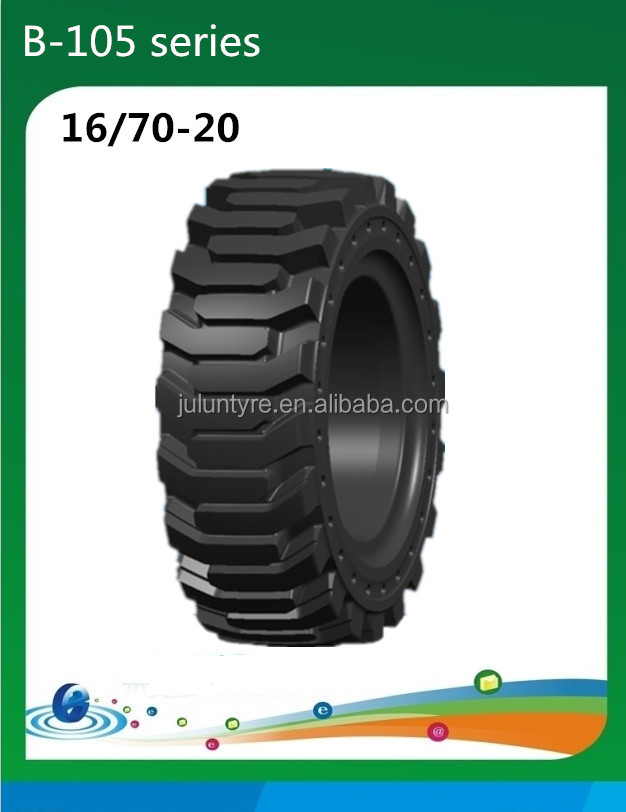 truck tire 16/70-20, strong grip solid tire