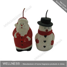 Snowman shaped scented candle for christmas