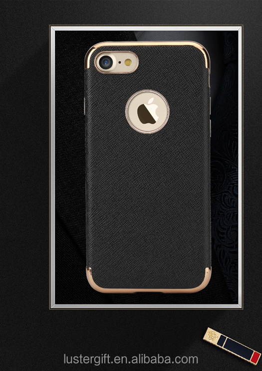 Hot Selling Luxury Glossy TPU Leather Skin Cell Phone Case for iPhone 7