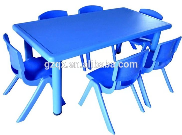 Cheap plastic dining table and chairs QX-194G/ little kids table/ kids table and chairs for sale