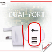 China supplier mobile accessories smart dual charger for tablet wall charger and for samsung