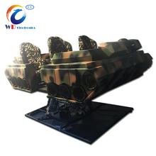 Amusement VR simulator game machine tank 4 seats 9d vr, 9dvr horse riding game machine from Wangdong