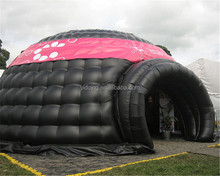 10m Diameter giant bubble dome tent, inflatable black tent for event K5200