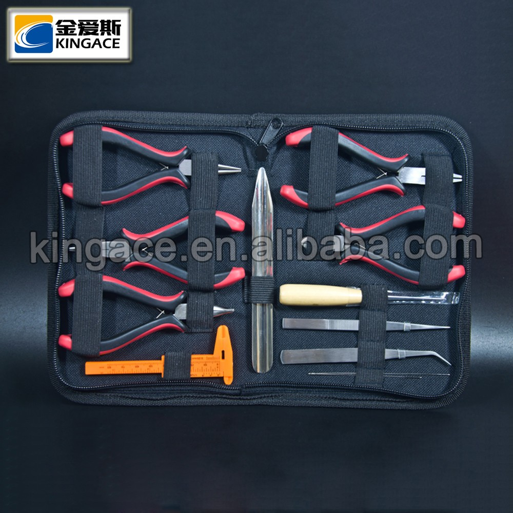 Customized 12pcs Chrome Plated Finished Carbon Steel Jewelry Making Tool Kit