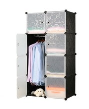 High Quality Portable Plastic Folding Wardrobe Cabinet