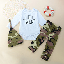 GC189A baby boys camouflage romper set baby clothes sets