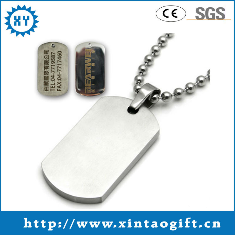 Custom uniqur QR code dog tag of China craft supplier with 100% quality assurance