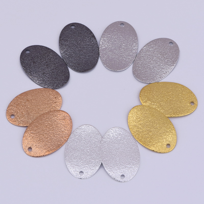 Wholesale 20.5 MM Copper oval charms crafts for jewelry marking DIY accessories Scrub oval Pendant