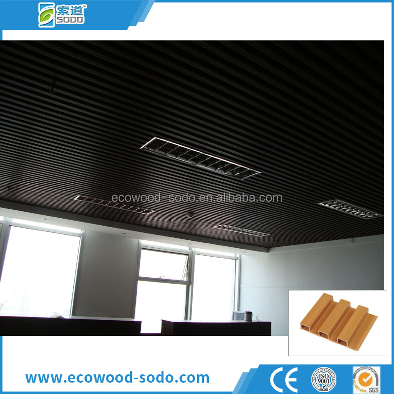 roof decorative material WPC laminated wood ceiling