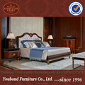 0068 Spain style mahogany veneer solid wood classical bedroom set king size bed