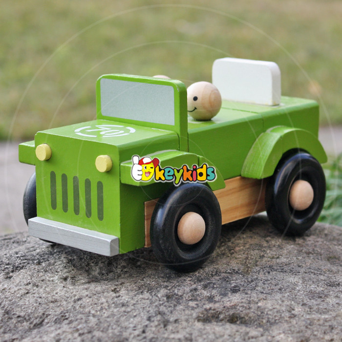 2016 wholesale wooden children toys car, best design jeep wooden children toys car, hot sale wooden children toys car W04A326