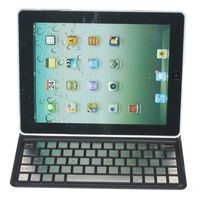 Ultra thin Wireless Bluetooth Keyboard Case Cover for iPad Mini Aluminum Keys